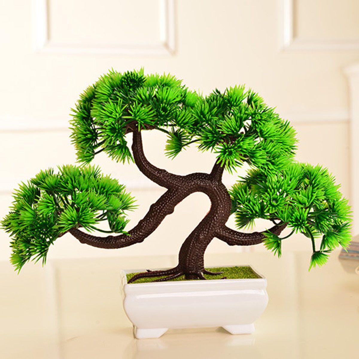 In home garden ideas  Bonsai Tree in Pot Artificial Plant for Home Garden Office Plant