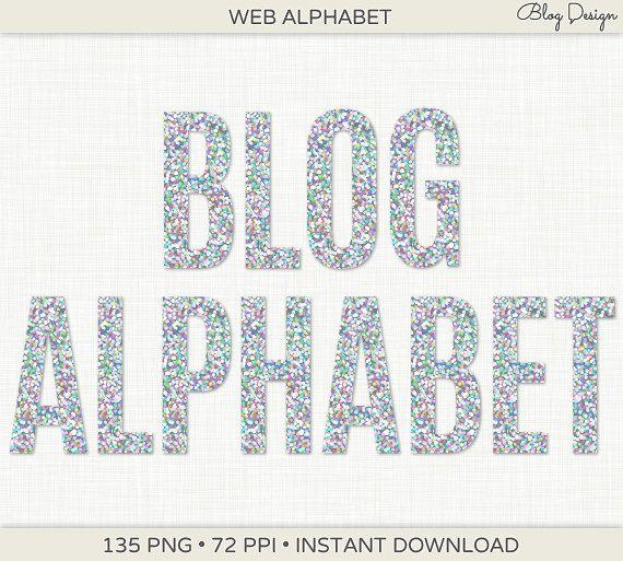 Silver Glitter Alphabet Clip Art Sparkly Silver Text By Blogdesign 5 00 Blog Design Clip Art Alphabet