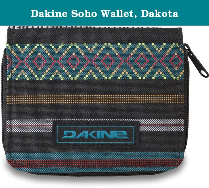 """Dakine Soho Wallet, Dakota. Dakine women's wallet - in Hawaiian slang, """"Da Kine"""" means the best and the company has lived up to this standard through attention to detail, focus on accessories and a notoriously thorough design process."""