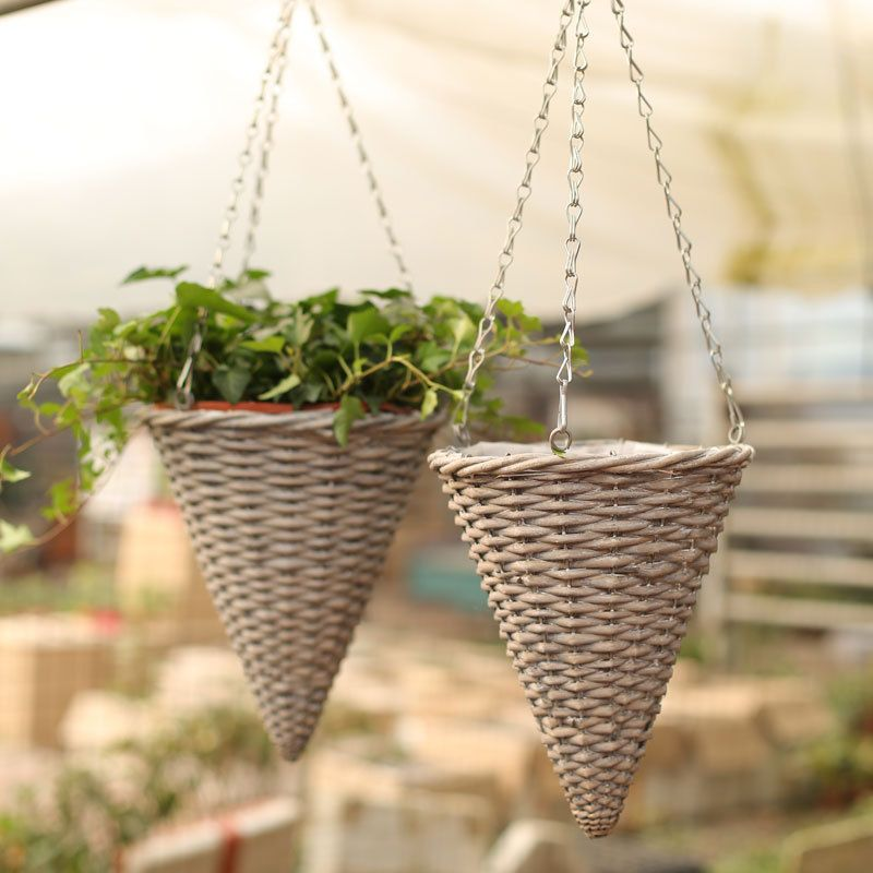 Cone Shape Hanging Basket Cone Shape Hanging Basket Suppliers And Hanging Baskets Garden Containers Basket Planters