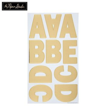Extra Large Gold Foil Uppercase Alphabet Stickers Alphabet Stickers Scrapbook Paper Crafts Uppercase Alphabet