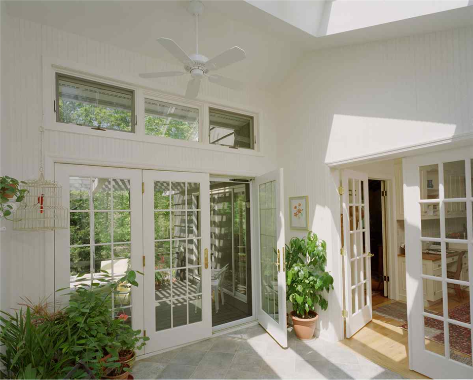 Replace Garage Door With Transom Windows And French Doors