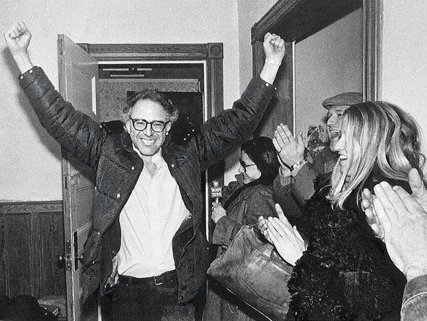 Bernie Sanders in 1987 after winning his fourth term as Mayor in Vermont