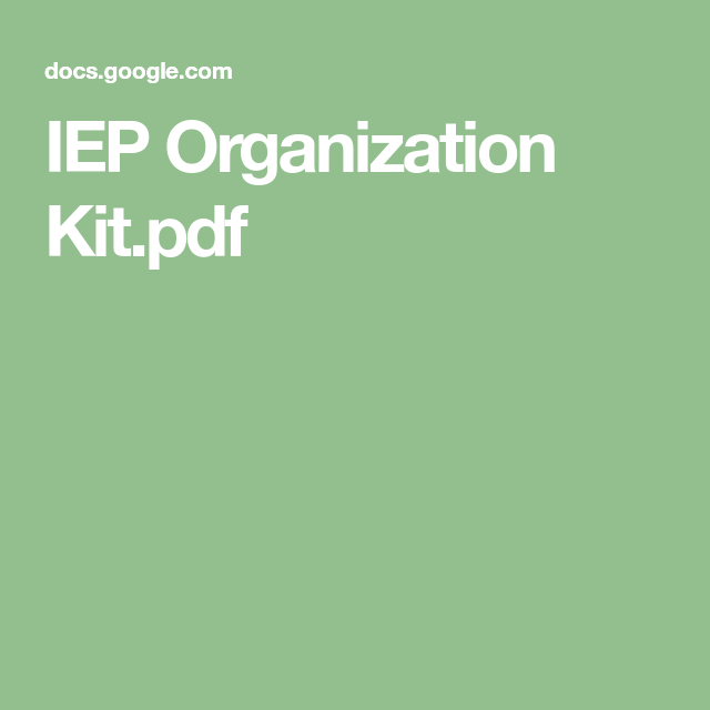 IEP Organization Kit.pdf