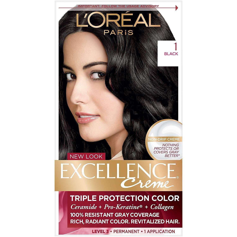 L Oreal Paris Excellence Creme Black 1 Hair Color Loreal Paris Best Black Hair Dye Loreal Paris Makeup