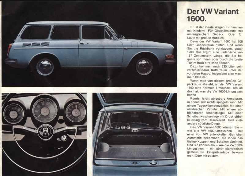 Der Vw Variant 1600 Volkswagen Squareback Vw Type 3 Vintage Vw