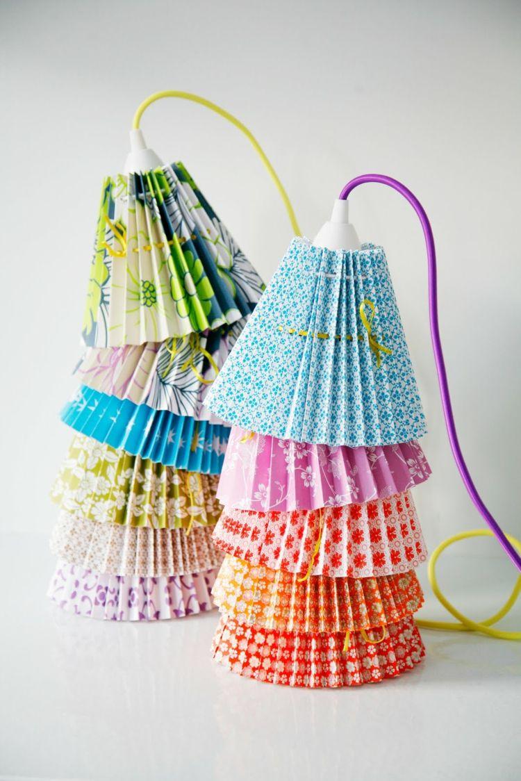 lampenschirme selber machen - 30 inspirierende bastelideen