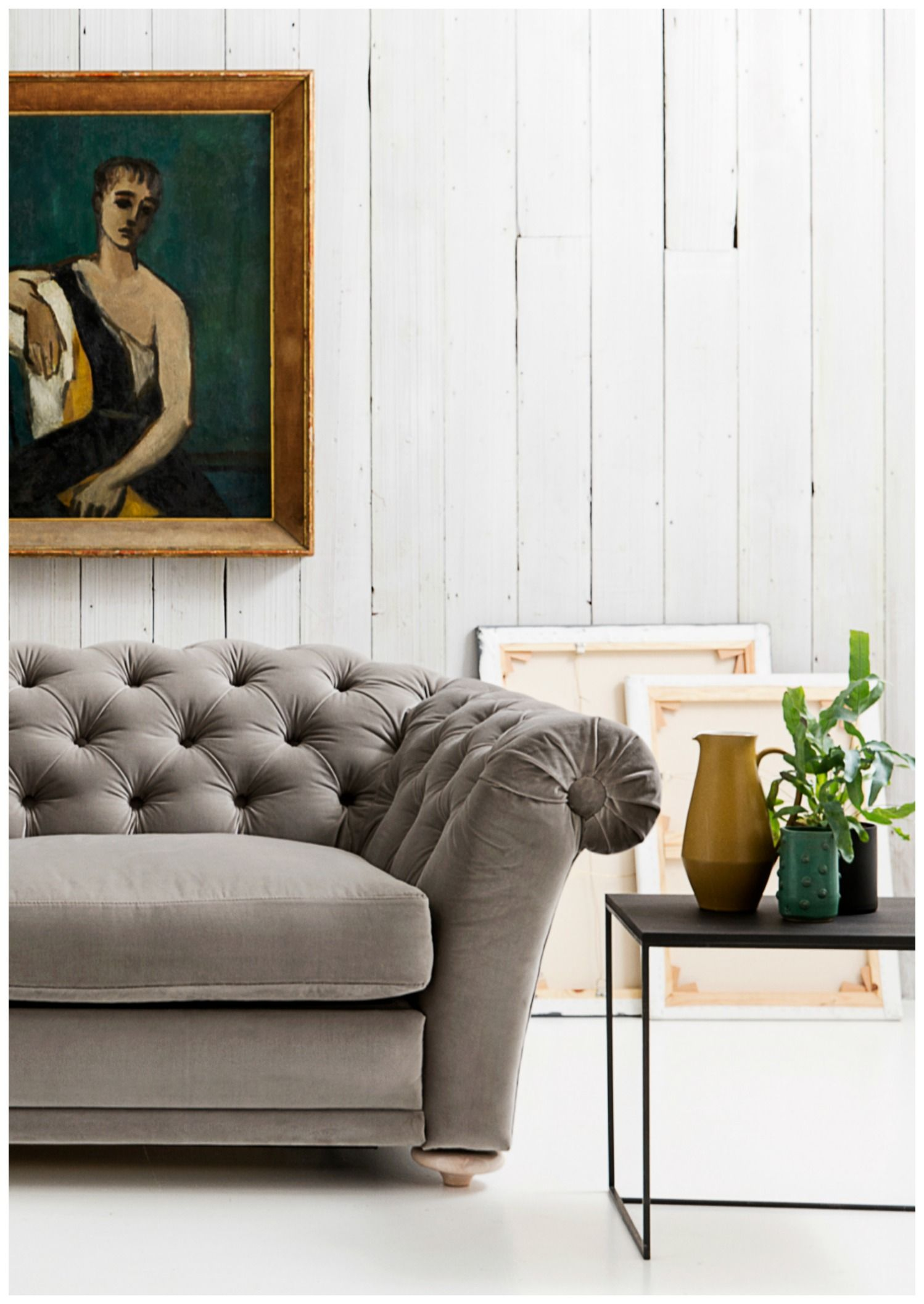A Softer More Feminine Take On Churchill Another Chesterfield  ~ Another Name For Sofa Bed