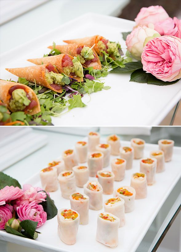 Mini food ideas, Wedding food, Passed appetizers, Pretty In Pink ...