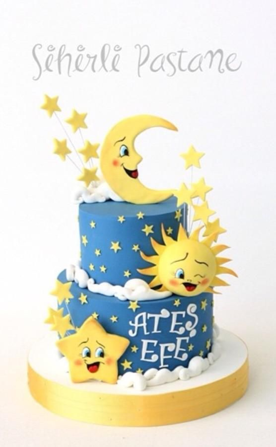 Moon Sun And Star Cake By Sihirli Pastane Cakes Amp Cake
