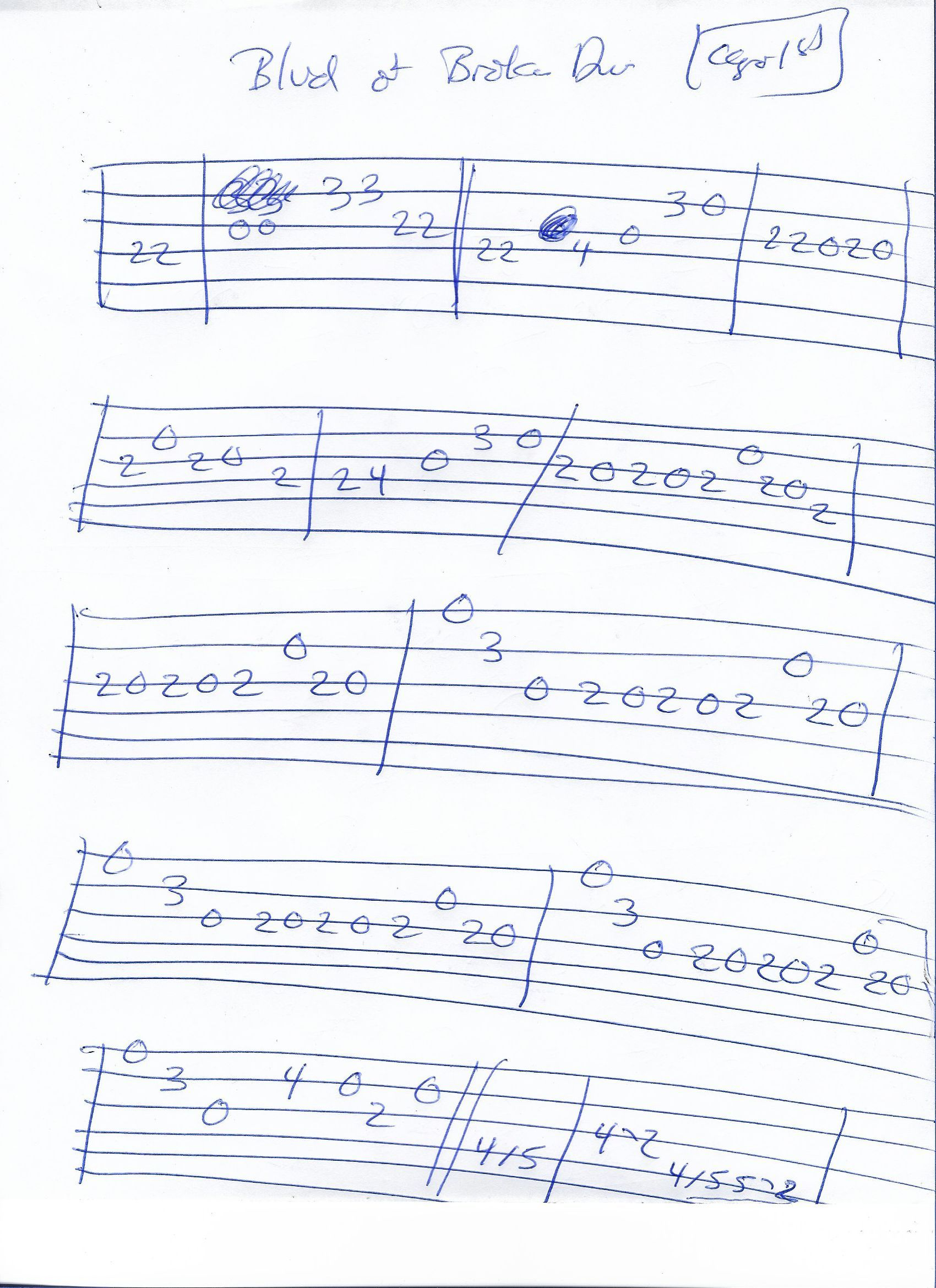 Blvd Of Broken Dreams Green Day Melody Guitar Tab Capo 1st Fret Guitar Tabs Guitar Tabs Songs Guitar Tabs And Chords