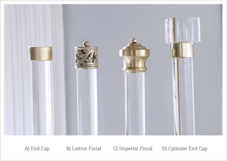 Finials Polished Brass Satin Brass Curtain Finials Drapery