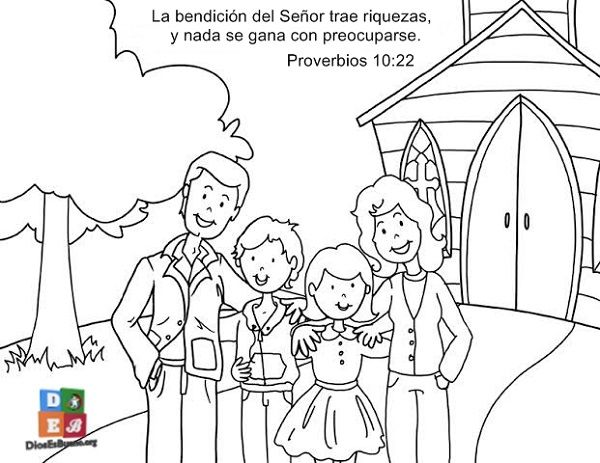 Image result for familia cristiana para colorear niños | CHURCH ...