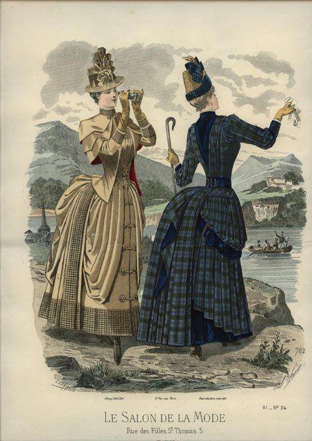 Le Salon de la Mode 1886 #englishdresses1880