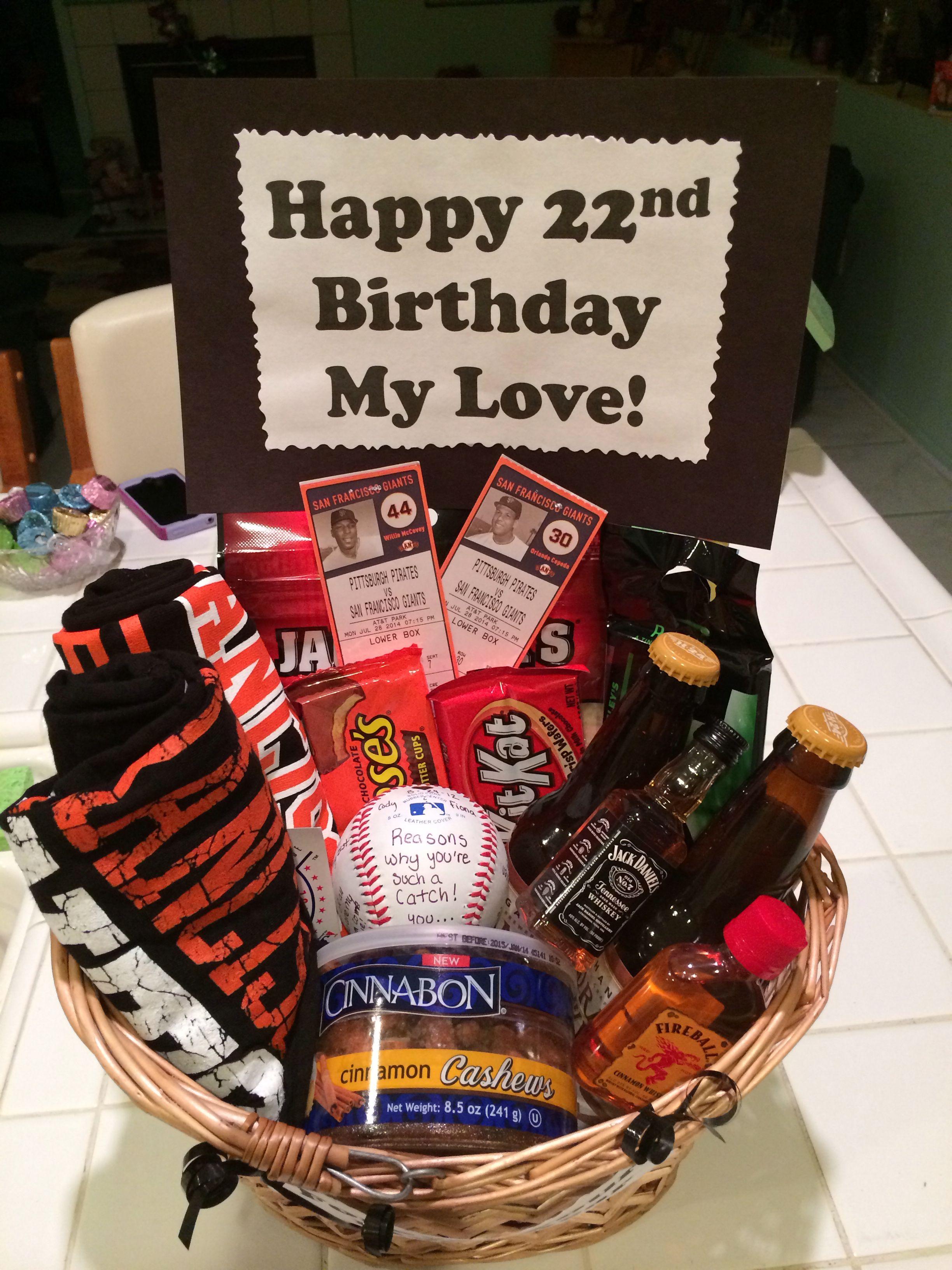 Sf Giants Baseball Gift Basket For My Boyfriend S Birthday