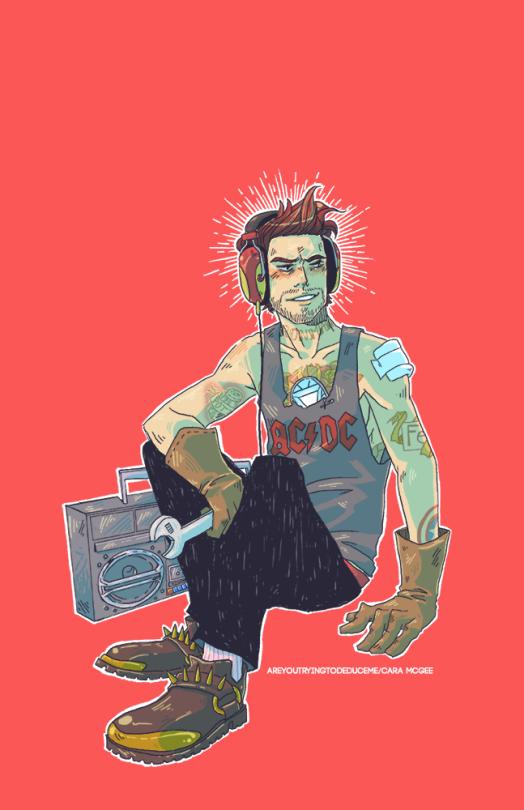 Punk Mechanic Tony Stark Art Cara Mcgee Tony Stark Fanart Avengers Art Avengers Pictures