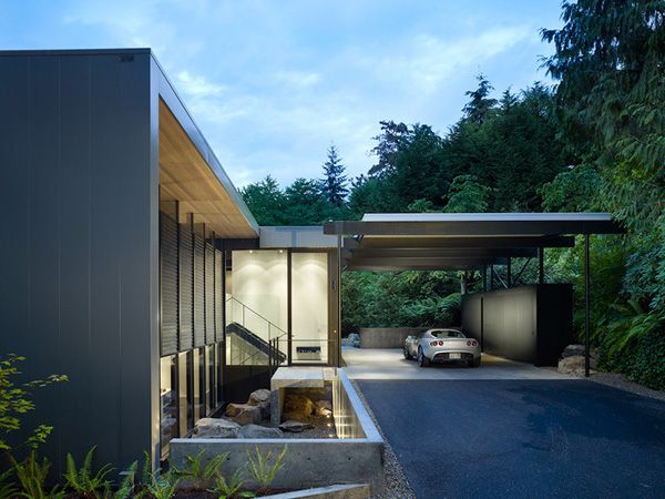Sensational Refuge On Mercer Island Carport Designs