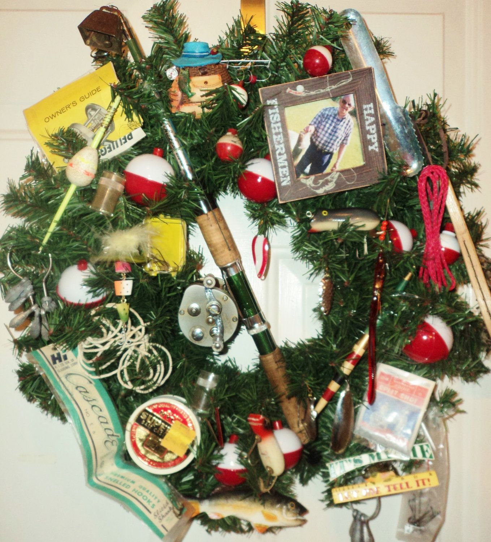 Pin By Jeauxdi On Diy Wreaths Fishing Christmas Tree Fishing Christmas Ornaments Fishing Christmas