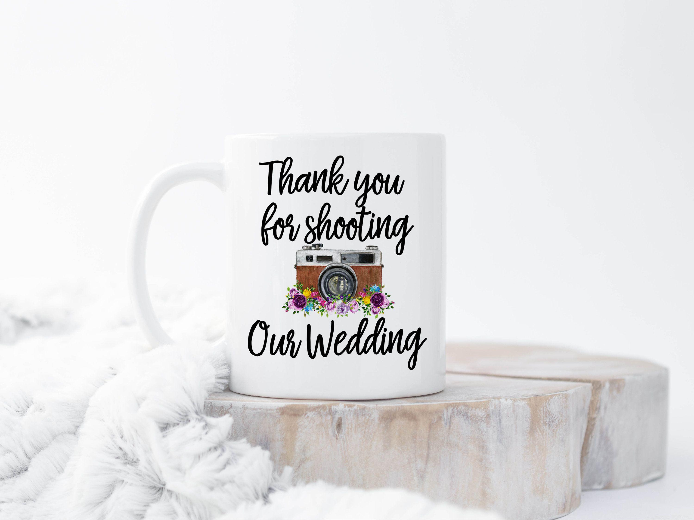 Photography Mug Thank You Wedding Photographer Gift Mug