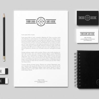 download free high quality elegant stationary mockup psd files