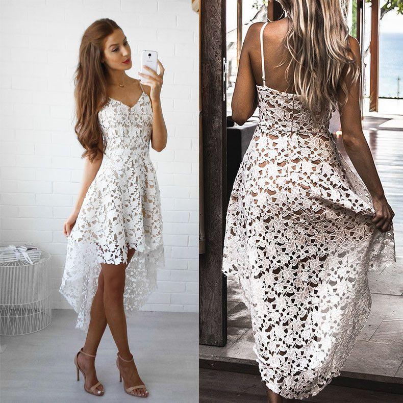 Letní dlouhé plážové šaty bílé – Velikost L Na tento produkt se vztahuje  nejen zajímavá sleva b774ea7a84