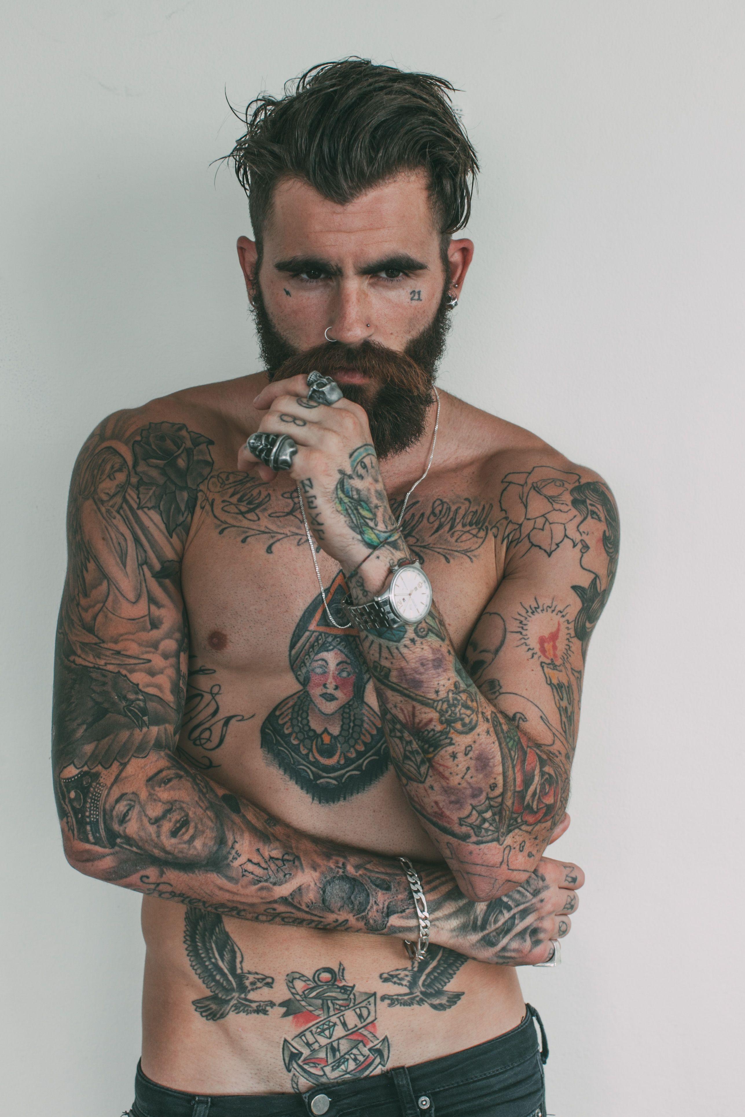 Chris Perceval | Heiße tätowierte männer, Tattoo junge