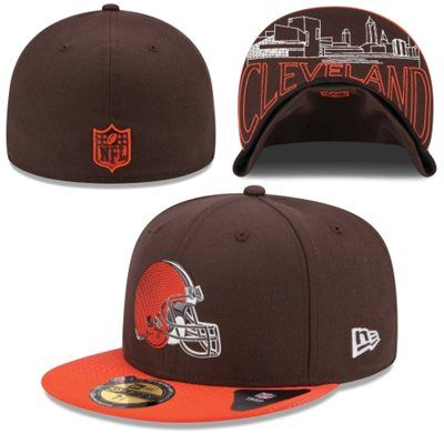 new arrival 2c9eb f01c8 New Era Cleveland Browns Youth Brown Orange 2015 NFL Draft On-Stage 59FIFTY  Fitted Hat