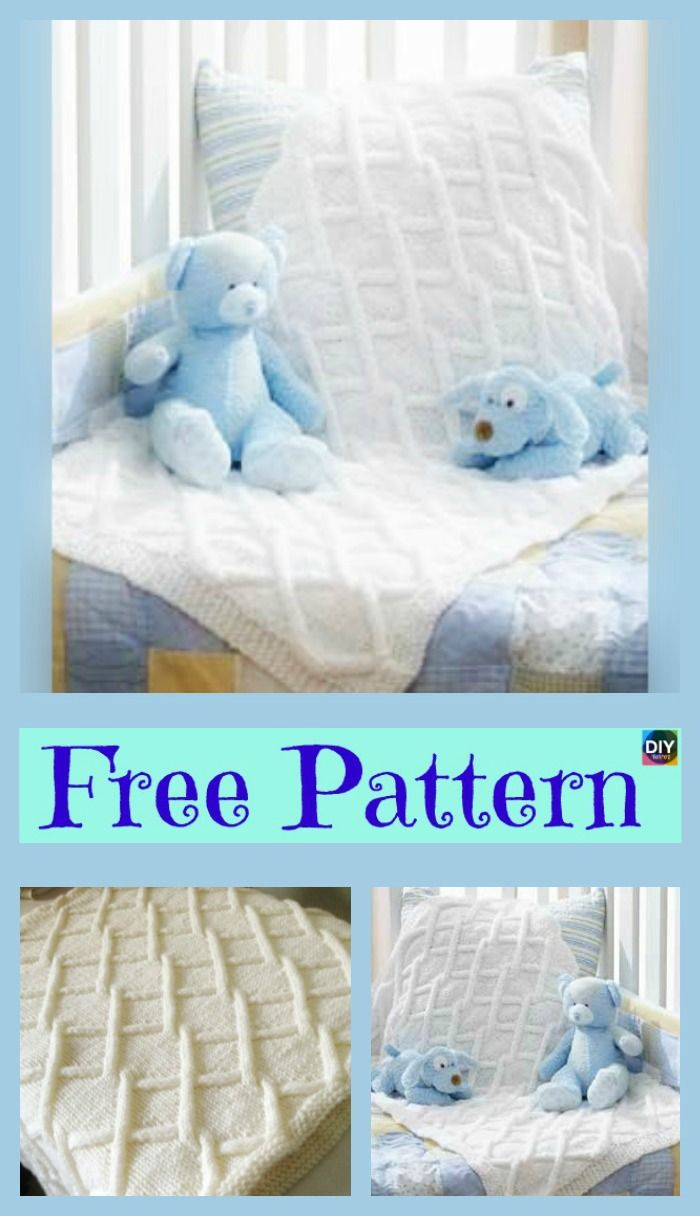 Pretty Knit Fence Baby Blanket - Free Pattern | Blanket, Crochet and ...