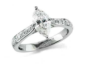 marquise engagement rings - Marquise Wedding Rings