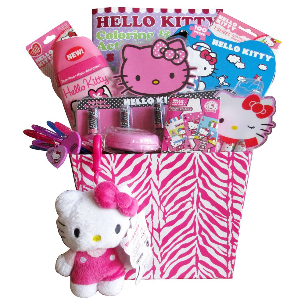 Hello Kitty Gift Baskets for Girls survival kits and baskets