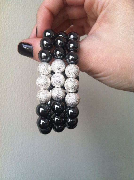 Hemalyke Silver Stardust Bracelet by StudMuffinBoston on Etsy, $20.00 ----made by me :)