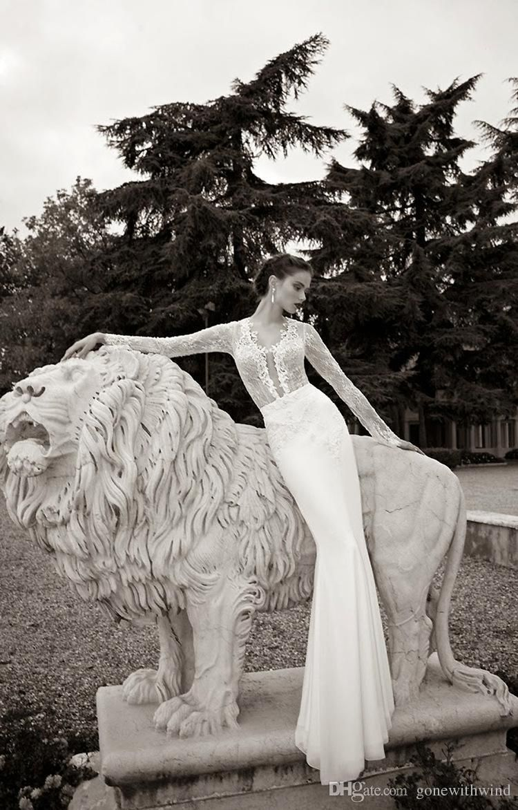 Full embellishment elegant mermaid wedding dresses sareh nouri