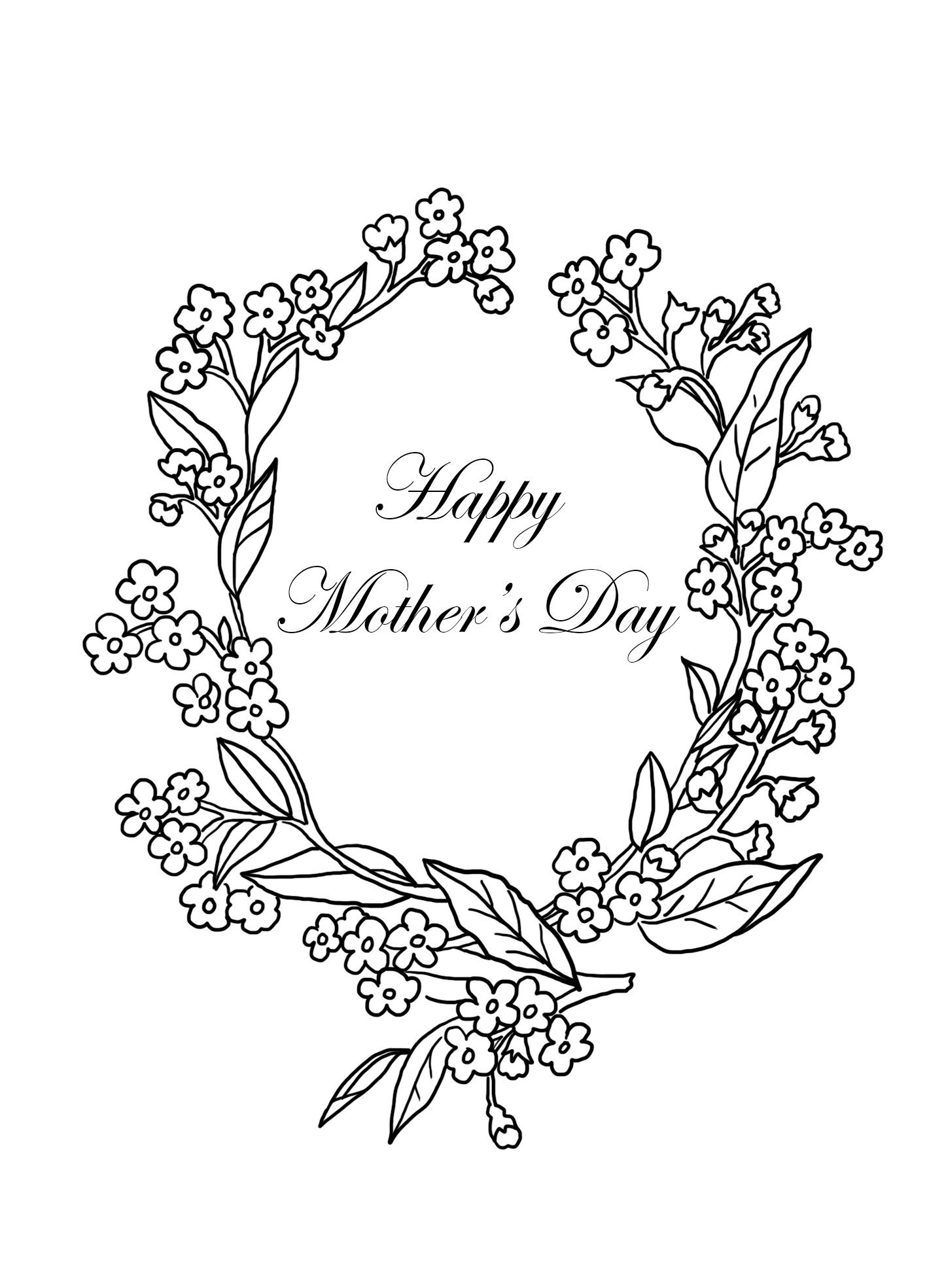 New Mothers Day Colouring Coloring Coloringpages