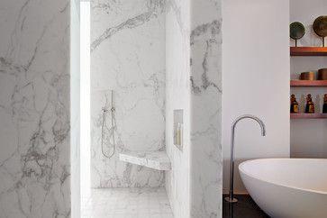 modern bathroom by Zack|de Vito Architecture + Construction - shower bench