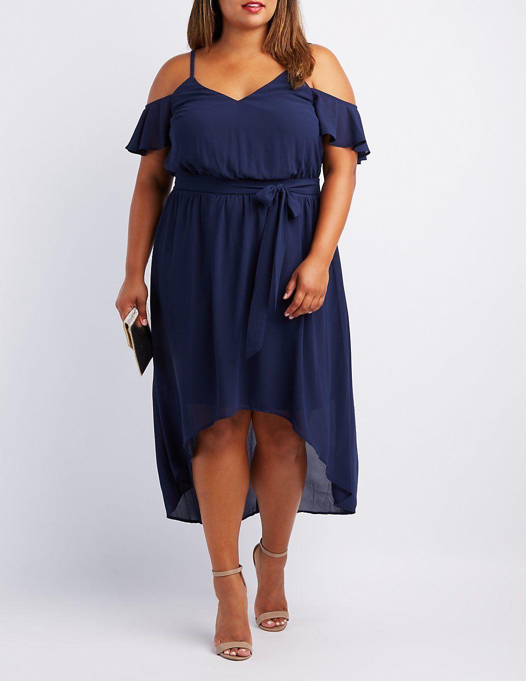 ffd44eeb2d5a Plus Size Cold Shoulder High-Low Dress | DRESSES | Dresses, Plus ...