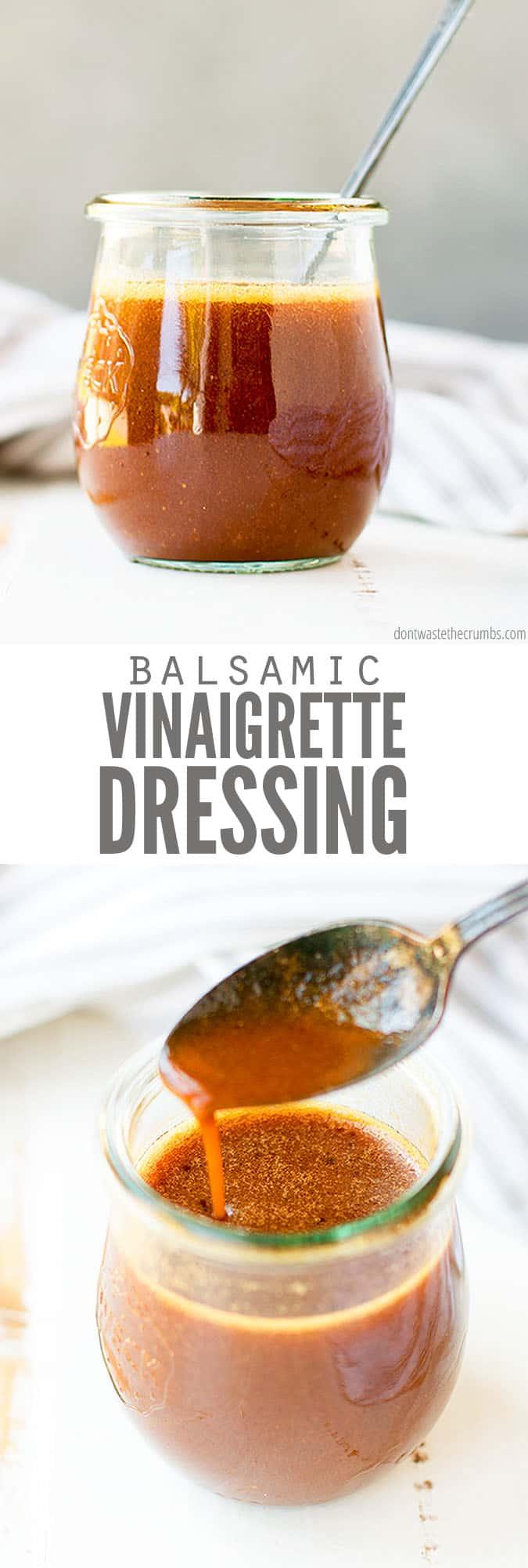The Best Healthy Balsamic Vinaigrette Recipe 3 Ingredients Recipe Balsamic Vinegar Recipes Balsamic Vinaigrette Recipe Homemade Balsamic Vinaigrette