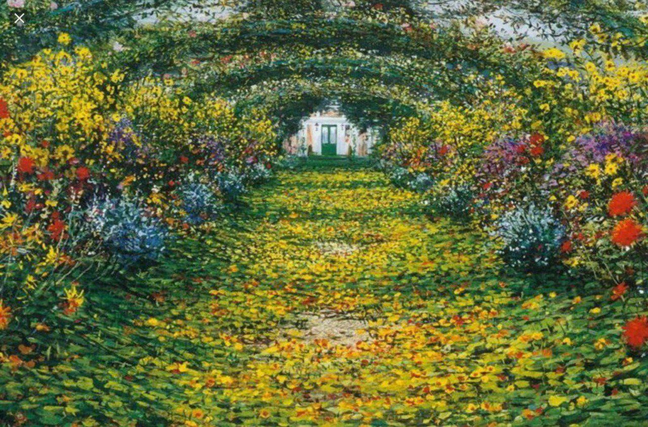 Mordecai On Monet Garden Giverny Monet Wallpaper Claude Monet Art