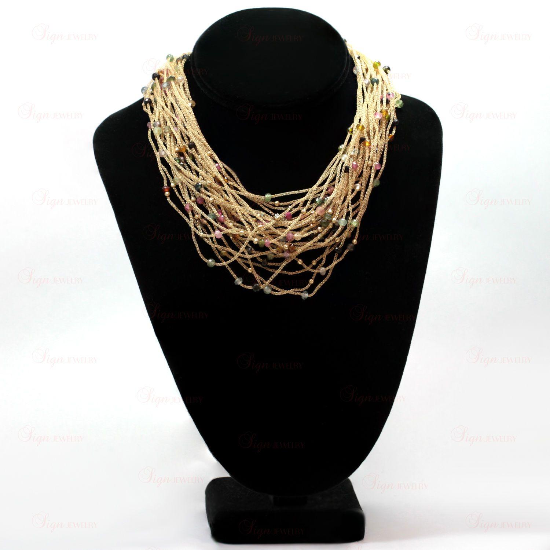 14k Yellow Gold Multicolor Gemstone Bracelet Necklace & Earrings Set | eBay