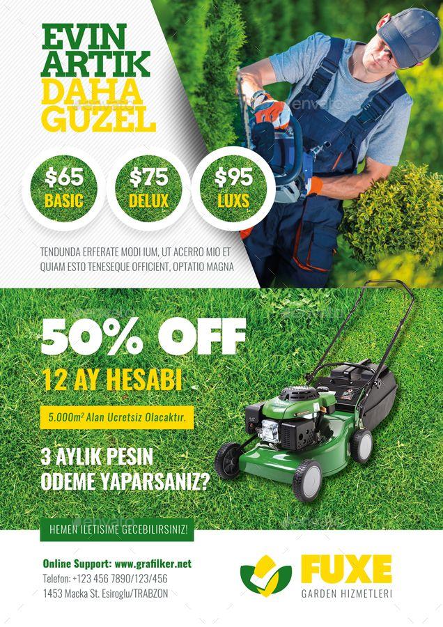 Garden Landscape Flyer Templates   Ads   Pinterest   Flyer template ...
