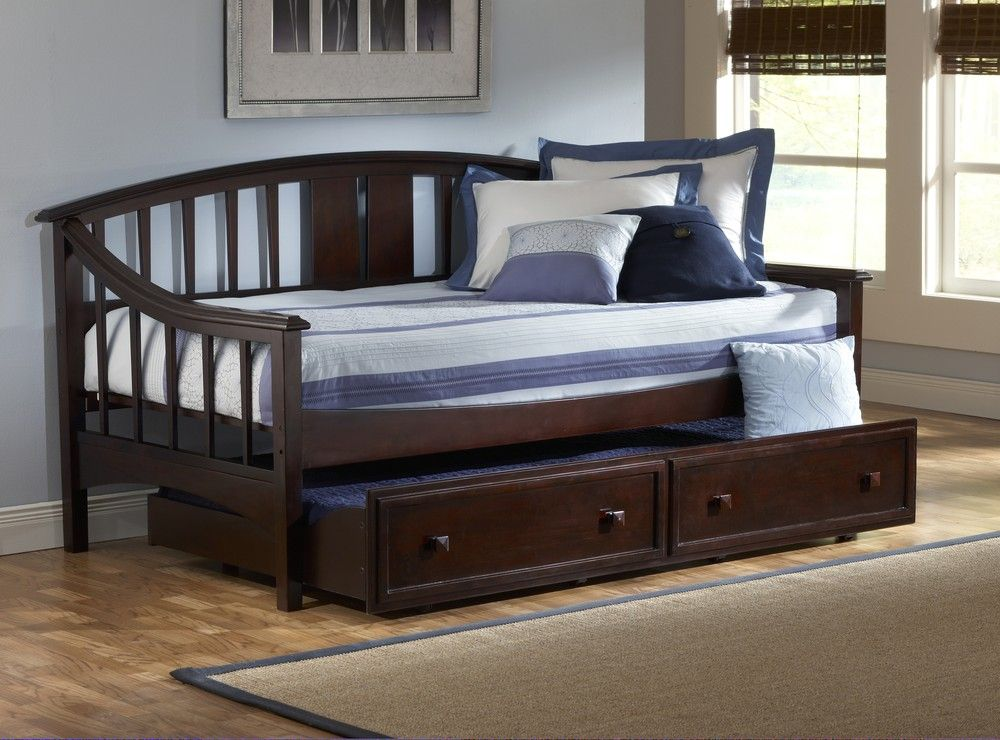 Alexander Daybed with Trundle Drawer in Deep Brown