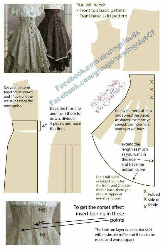 Pin de TinaMarie Capri en fashion   Pinterest   Falda, Costura y ...