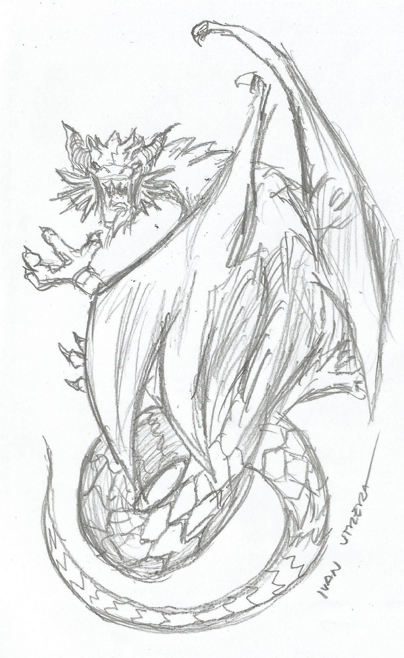Dragon A Lapiz Dragones Dibujos Dibujos De Estrellas