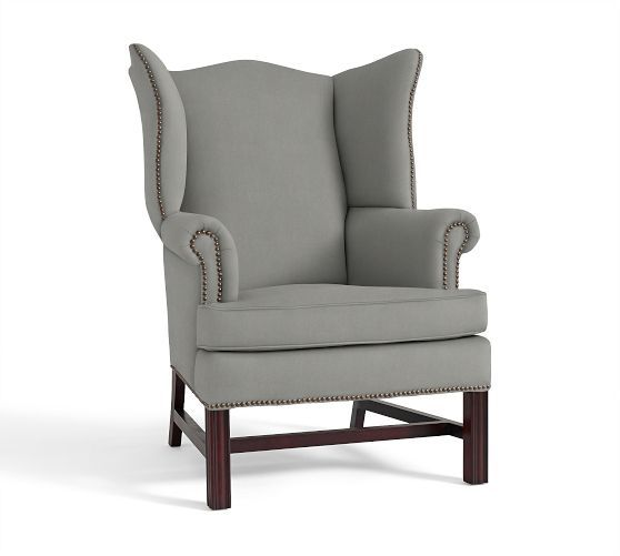 Thatcher Upholstered Wingback Chair | Pottery Barn