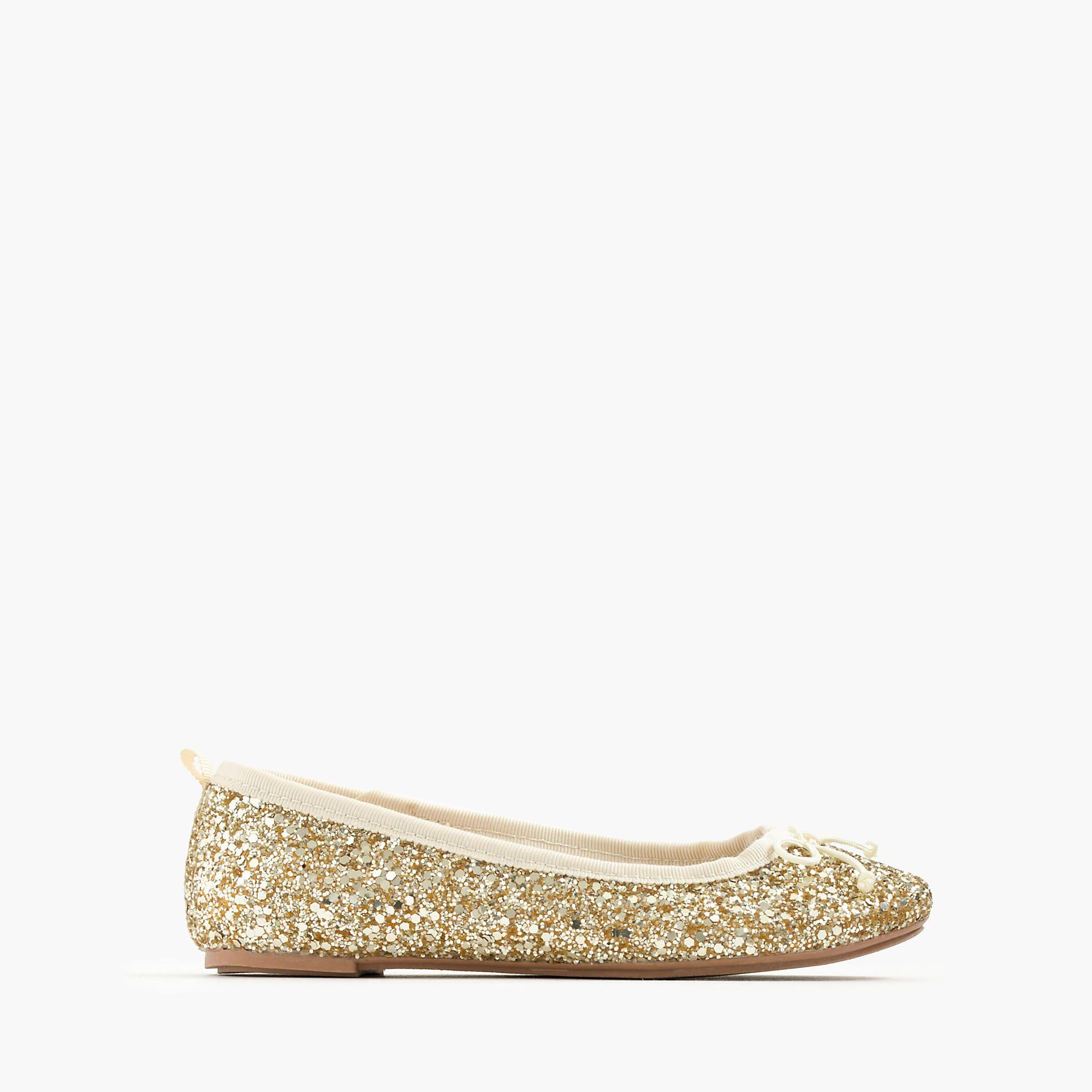 c98df237738 Girls' Classic Glitter Ballet Flats   Girls' Shoes