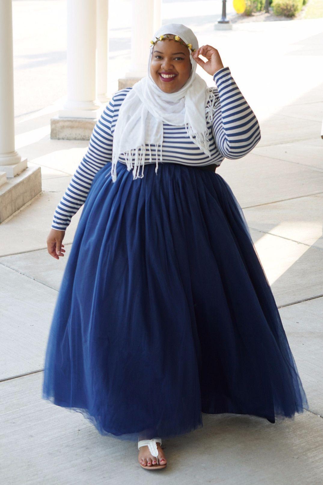 c32ff112fa Plus Size Long Tutu - Navy (Sizes 1X - 6X) - Society Plus - Plus Size  Fashion for Women