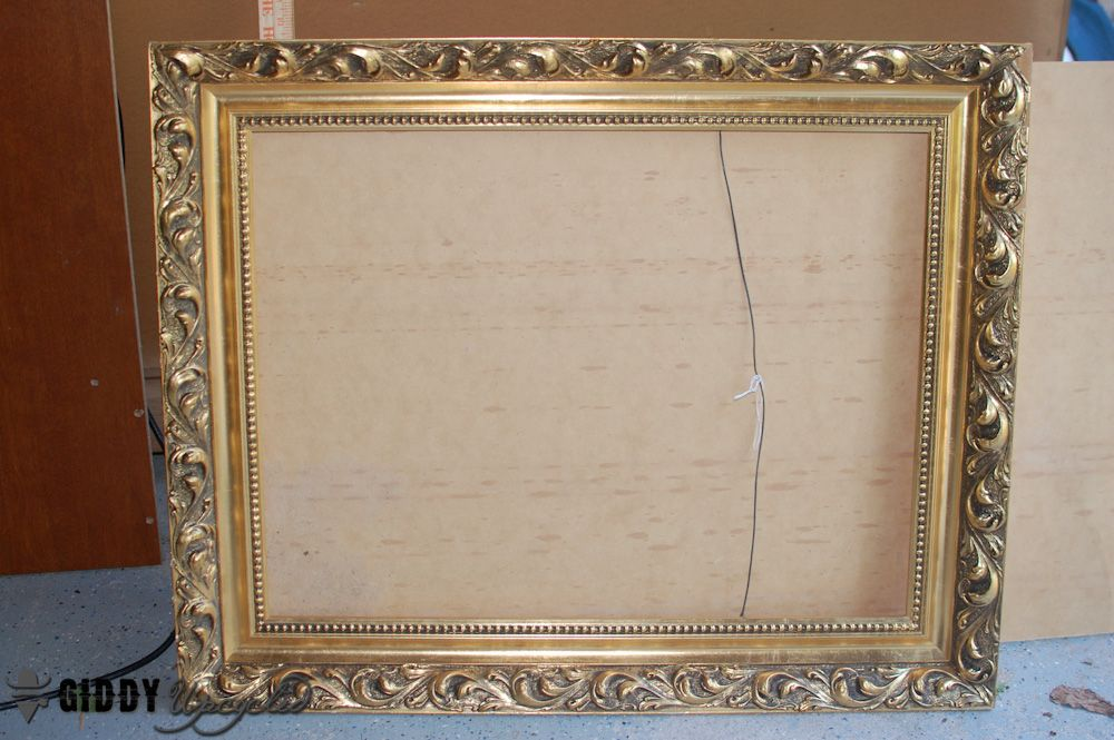 Vintage Frames Spray Painted White For Gallery Wall | Yard sale ...