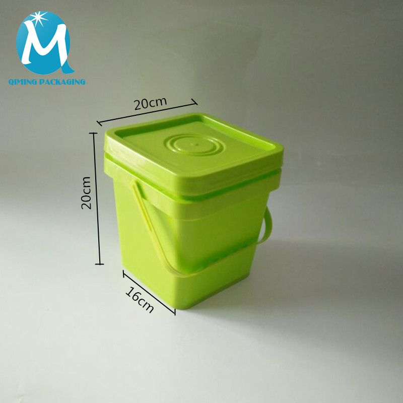 Wholesale Square Plastic Pails Buckets Qiming Packaging Lids Caps Bungs Cans Pails Buckets Baskets Trays Pet Food Container Food Animals Food Containers