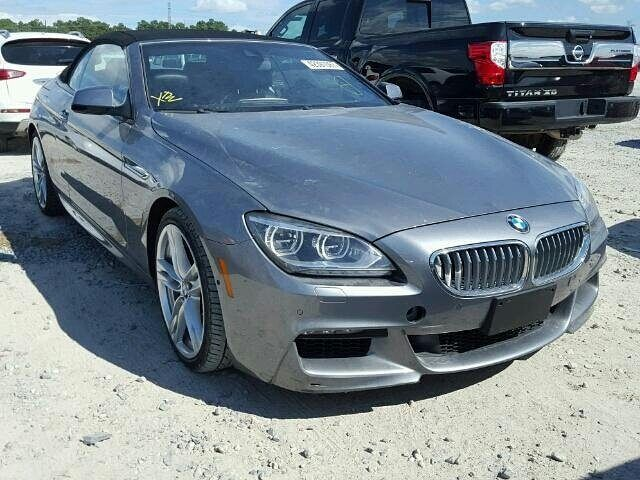 Salvage Forsale 2016 Bmw 650i Convertible Droptop Mseries