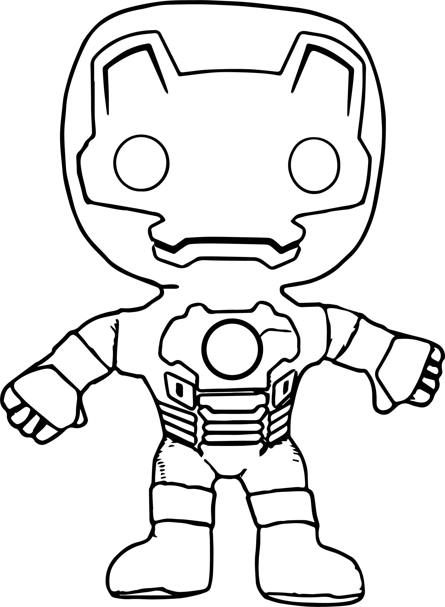Cool Avengers Iron Man Chibi Coloring Page
