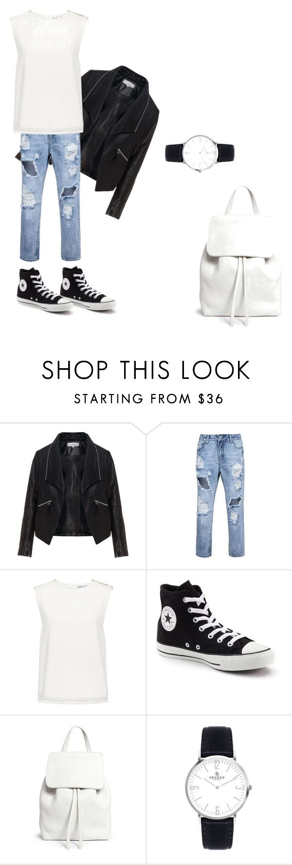 """""""Без названия #1"""" by olazarenko ❤ liked on Polyvore featuring Zizzi, Finders Keepers, Converse and Mansur Gavriel"""